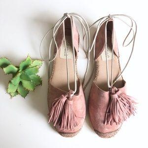 Spanish Handmade Pink Tassel Espadrilles